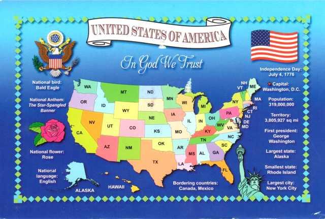 Cartes postales de New York, Etats-Unis. Postcrossing en France