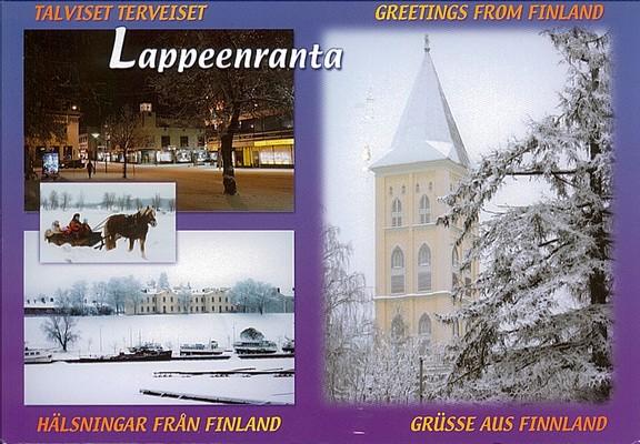 une carte postale de lappeenranta finlande 2011 01 09. Black Bedroom Furniture Sets. Home Design Ideas