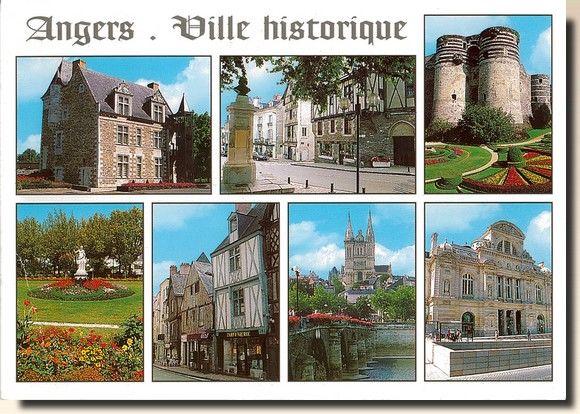 Une carte postale d'Angers - France (2004-01-23)