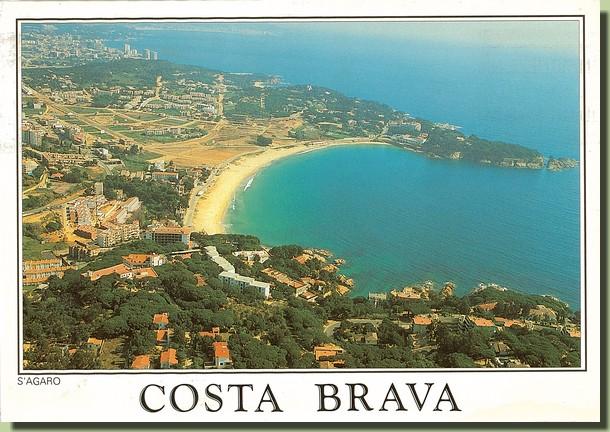 Une carte postale de la Costa Brava - Espagne (1992-08-25)