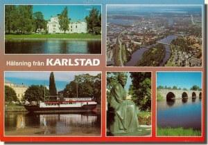 Une carte postale de Karlstad (Linda)