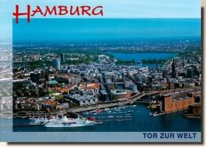 Une carte postale de Hambourg (Janina)