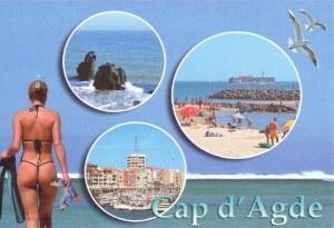 Une carte postale du Cap d'Agde (Mes 2 blondes)
