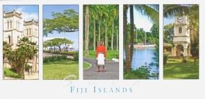 Une carte postale des Îles Fidji (Faustine, Ninon, Léonie, Céline et Laurent)