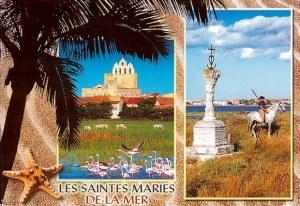 Une carte postales des Saintes-Maries-de-la-mer (Elodie)