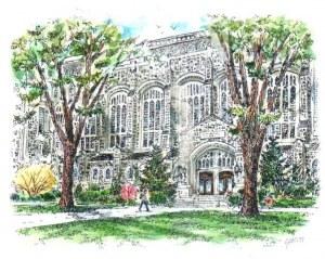 Une carte postale d'Ann Arbor