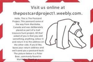 Une carte postale de the Postcard Project