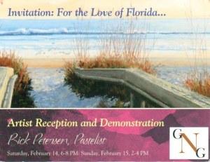 Une carte postale de Saint Augustine, FL (Gorges)