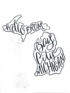 Une carte postale de Bay City, MI (Kathryn)