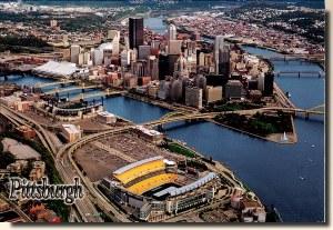 Une carte postale de Pittsburg, PA (Mitzie)