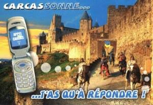 Une carte postale de Carcassonne (Semoul, Manu, Cathy, Marie, Cerise, Charlotte, Clara)