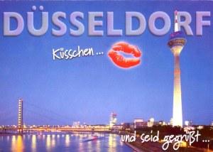 Une carte postale de Düsseldorf, Allemagne