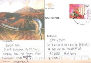 Une carte postale de Pekalongan (Vivian)