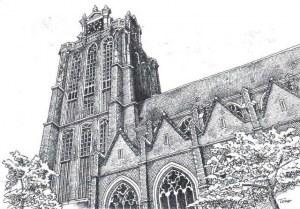 Une carte postale de Dordrecht (Peter)