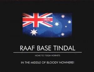 Une carte postale de la Base Tindal (Beck)