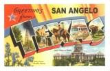 Une carte postale de San Angelo (Klara)
