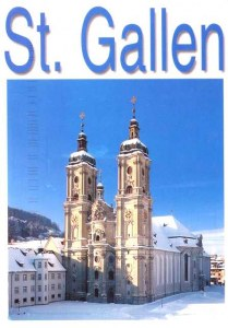 Une carte postale de Saint-Gall