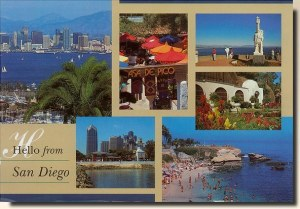 Une carte postale de San Diego, CA (Sue)
