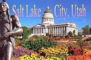 Une carte postale de Salt Lake City (Erino)