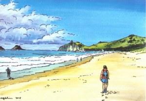 Une carte postale de Paraparaumu (Aunty)