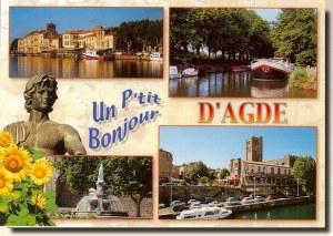Une carte postale d'Agde (Céline)