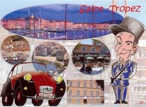 Une carte postale de Saint-Tropez