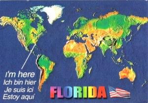 Une carte postale de Orlando (Cricket et Bailey)