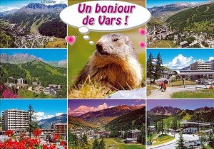 Une carte postale de Vars Les Claux (Laura et Marie-Ange)