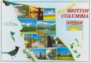 Une carte postale de Colombie Britanique (Denise)