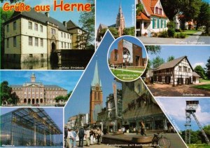Une carte postale de Herne (Das Hasenpaar)