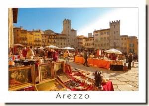 Une carte postale d'Arezzo