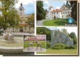 Une carte postale de Blansko (Hana)