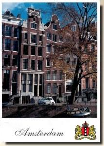 Une carte postale d'Amsterdam