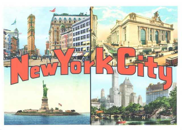 carte postale new york A postcard from New York, USA   Postcard 1265