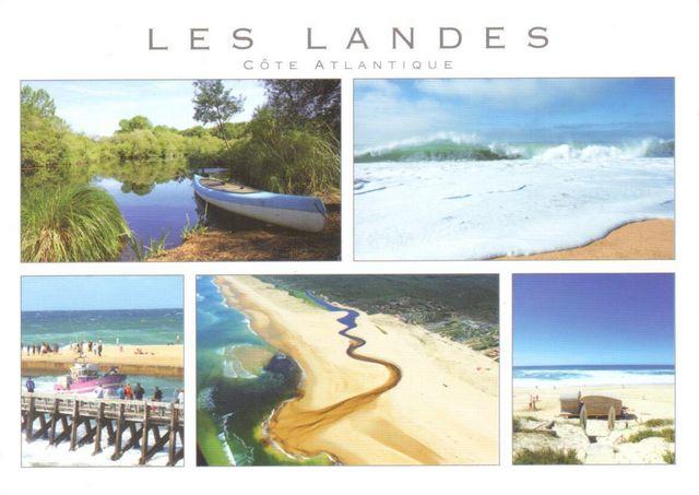 A postcard from Les Landes, France - Postcard number 1041