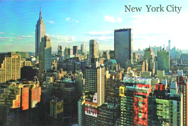 carte postale new york A postcard from New York, USA   Postcard number 1082