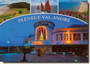 A postcard from Pléneuf-Val-André (Françoise and Robert)