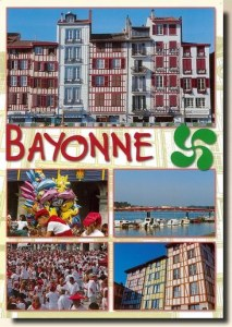 A postcard from Bayonne (Anne, Pascal, Justine, Bob et Isa)