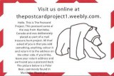 A postcard of The Postcard Project