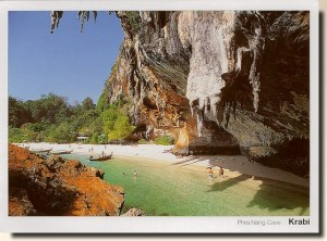 A postcard from Bangkok showing Krabi (Tanawan)