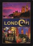 A postcard showing London