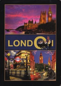 A postcard showing London