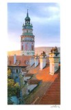 A postpostcard from Český Krumlov (Faustine, Ninon, Léonie, Céline and Laurent)