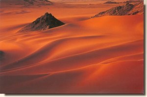 A postcard from Stafa (Amon), showing desert of Aïr in Niger