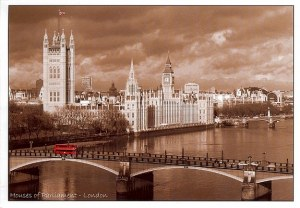 A postcard from Madrid showing London